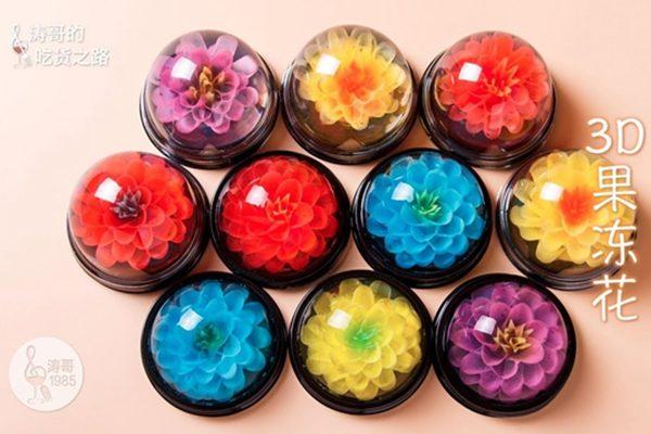 这些美爆了的3D果冻花居然是一根吸管做出来的(网络图片)