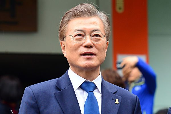 韩国总统文在寅提议举行韩朝军事会谈和红十字工作接触。(网络图片)