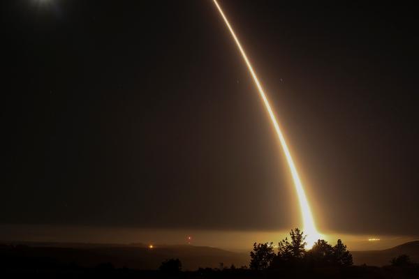 图中为美军试射的义勇军-3洲际弹道导弹(网络图片)。