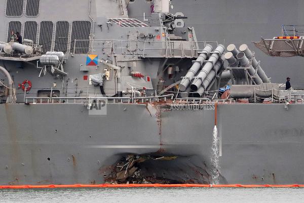 """美海军发现""""麦凯恩""""号失踪水兵遗骸 白宫""""非常伤心"""""""