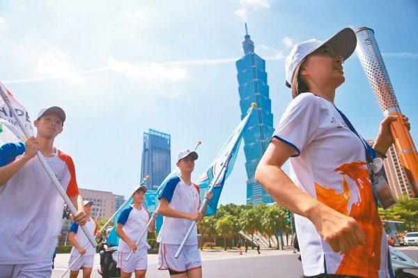 8月10号起,世大运圣火传回台北,绕行路线包括101大楼等知名地标。