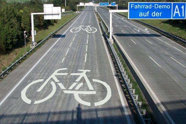 德国的自行车高速路 (图片来源: Ulrich Kühn)