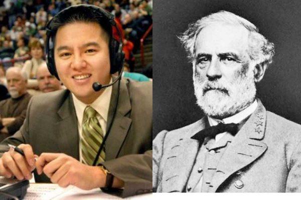 解说员Robert Leea和李将军(合成图片)