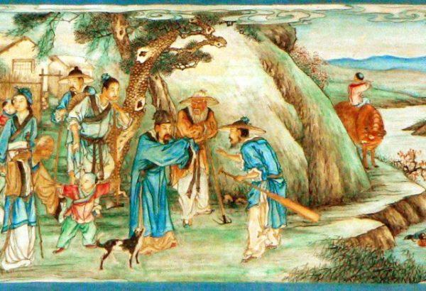 颐和园长廊的苏式彩画:桃花源(图片来源:维基百科)