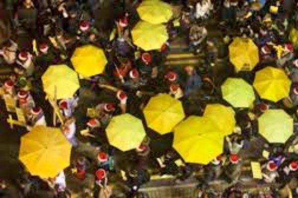 """捍卫香港民主自由 港团体发起""""十一反威权大游行"""""""