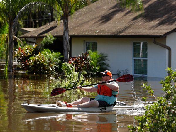 飓风艾玛已过,后续灾难威胁仍在。(AP/Chris O'Meara)