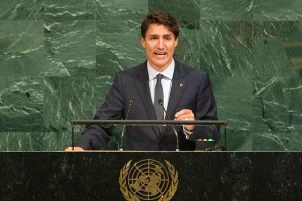 加总理特鲁多联大全力游说 争取重返安理会
