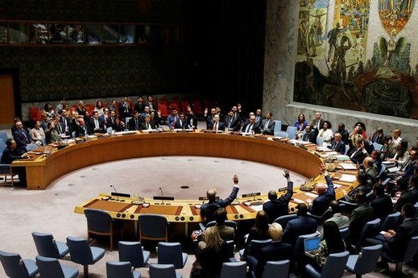 联合国安理会今天全票通过对朝鲜新制裁决议(AP/Jason DeCrow)