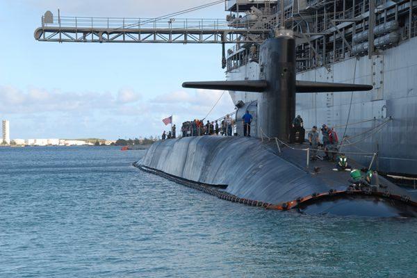美核潜艇抵韩预备军演 传朝又有动作准备射弹