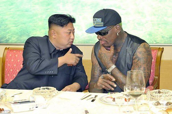 金正恩与罗德曼在朝鲜见面 AP