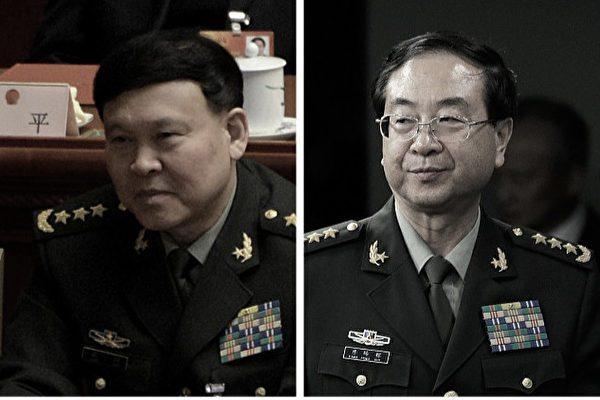 张阳(左)与房峰辉(右)均传涉及政变(网络图片)