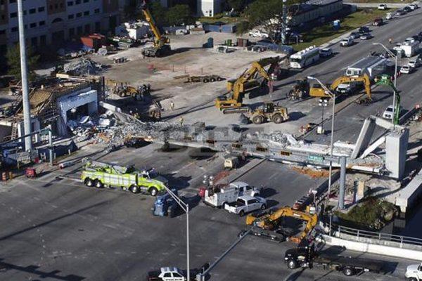 佛罗里达坍塌桥梁 事故两天前发现裂痕