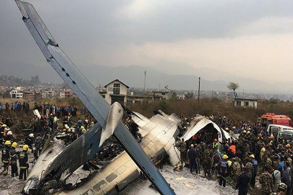 尼泊尔加德满都特里布万机场发生坠机事故 AP