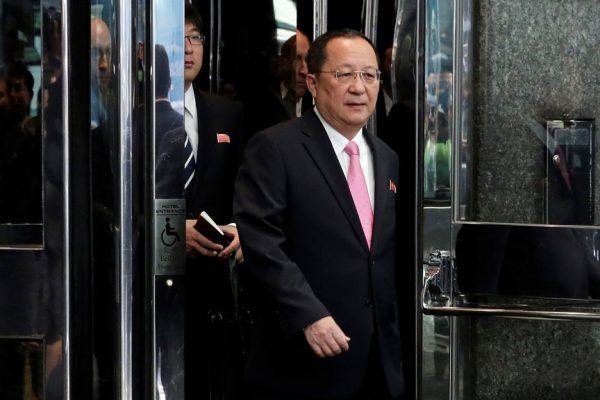 朝鲜外交部长李勇浩(AP Photo/Richard Drew)