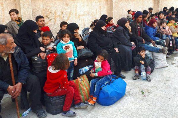 叙利亚东乌塔战火 大规模难民出逃