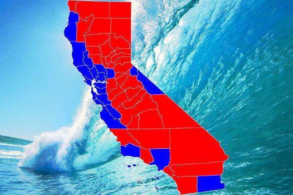 """加州""""红蓝""""相间,地方于州府移民问题显分歧"""