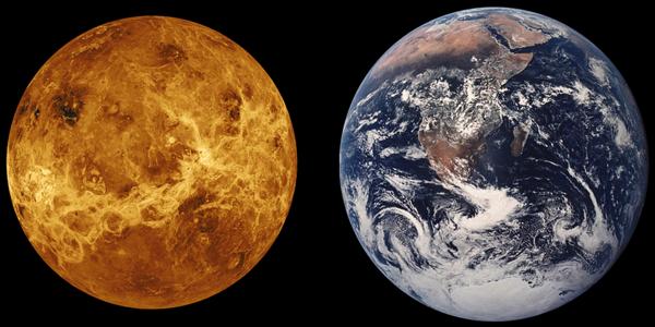 有人称金星(左)是地球的姊妹星。(Pixabay)