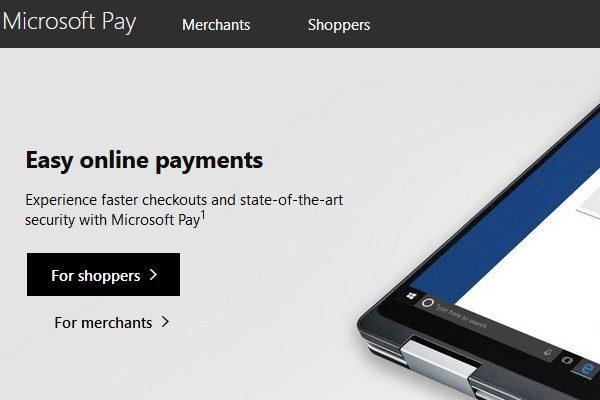 微軟錢包(Microsoft Pay)(圖片來源:網頁截圖webpage Screenshot)