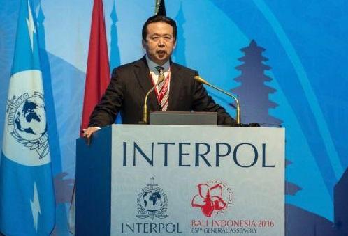 公安部副部长孟宏伟在国际刑警组织大会演说(AP)