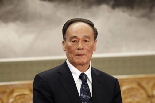 王岐山昨日(15日)以中共中央外事工作委员会委员的身份露面(AP)