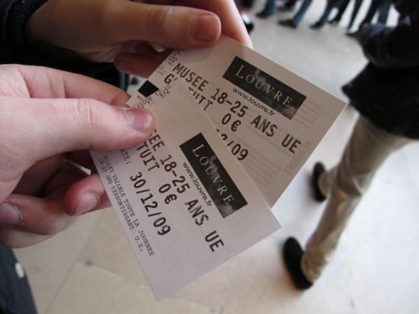 卢浮宫2009年的免费学生门票
