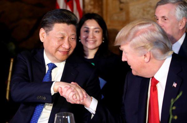 中美贸易战两大主角:习近平与川普(AP Photo/Alex Brandon)