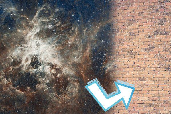 """科学家发现""""宇宙墙""""的存在?(图片来源:希望之声合成)"""