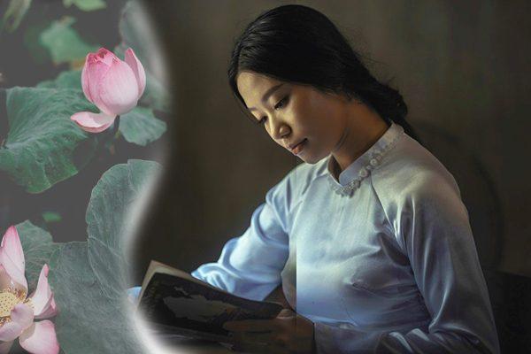 女人 阅读 花(希望之声合成/unsplash)