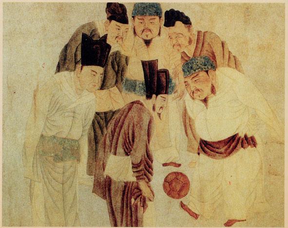 《宋太祖蹴鞠图》(图片:Wikimedia Commons)