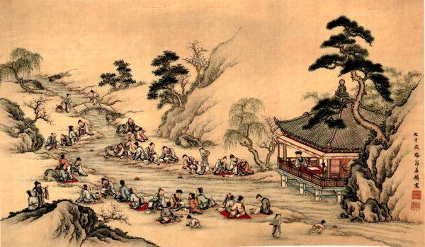 曲水流觞(图片:Wikimedia Commons)