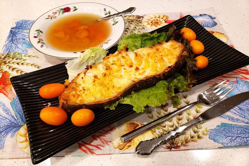 【梁厨美食】 蜜饯柑橘汁烧焗鳕鱼
