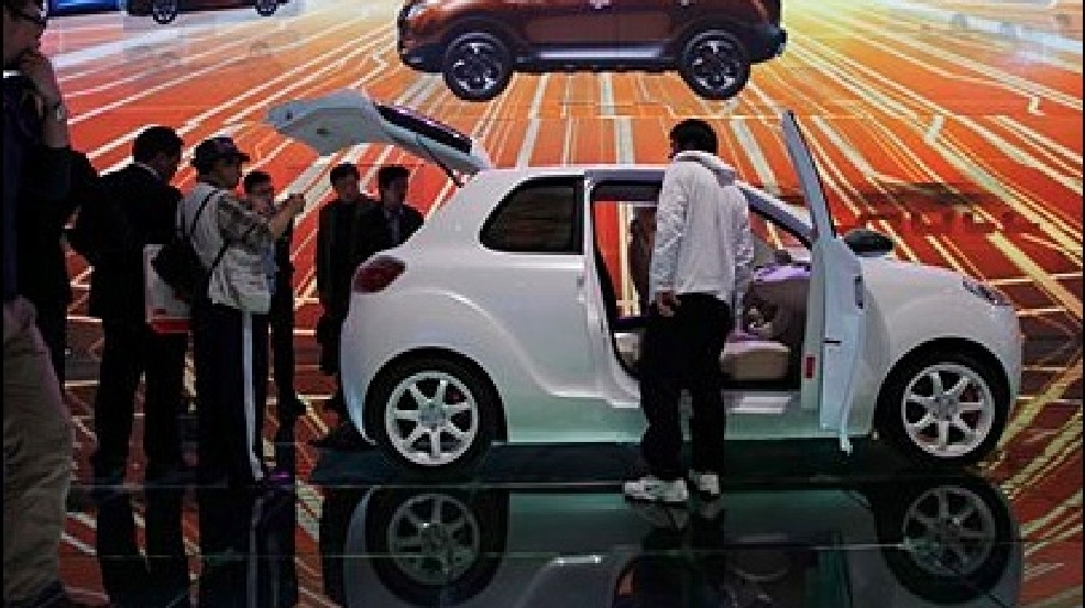The toylike electric cars at the Shanghai Auto Show