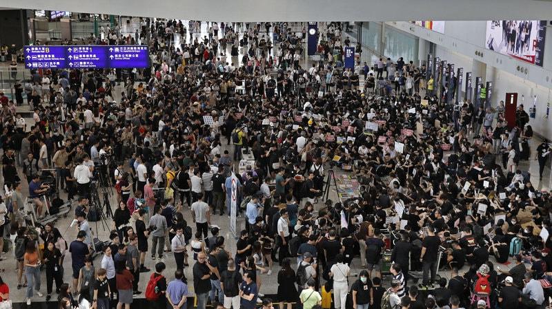香港抗议活动,美联社图片。