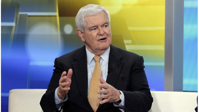 美國前衆議院議長金裏奇(Newt Gingrich) 。 (AP Photo/Richard Drew, File)
