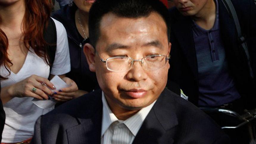 中国维权律师江天勇(美联社)