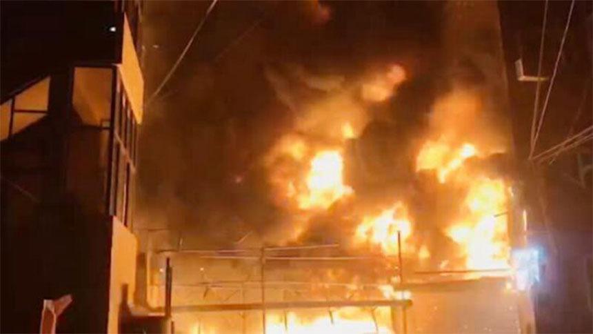 浙江印染厂污水罐爆炸   9死4重伤