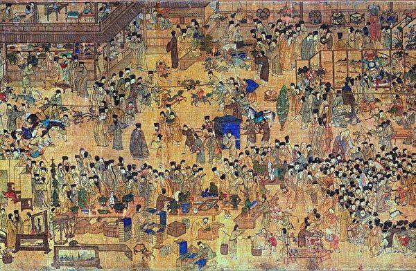 晚明南京元宵节的热闹景象。 (图片:wikimedia commons)