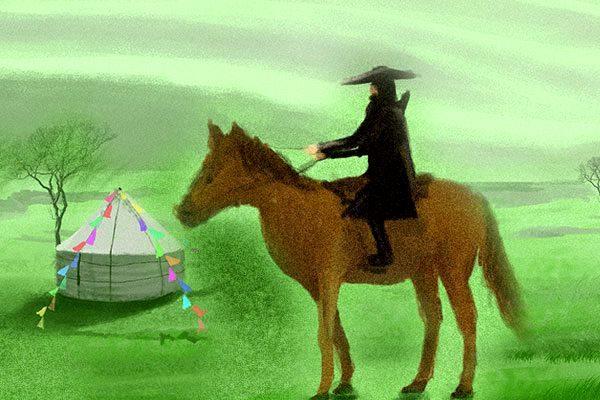 他背着简单的行囊义无反顾的走到了口外,走进了茫茫草原他背着简单的行囊义无反顾的走到了口外,走进了茫茫草原   (图片来源:希望之声合成)
