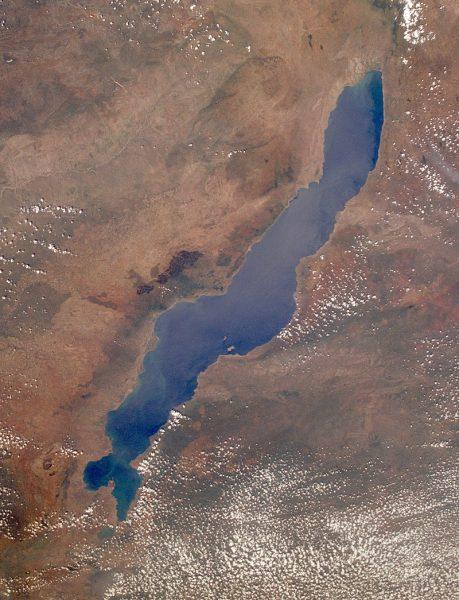 马拉威湖卫星图