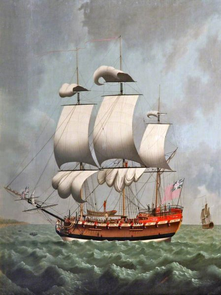 一艘《Liverpool》號販賣奴隸的船隻(圖片:William Jackson/Merseyside Maritime Museum)