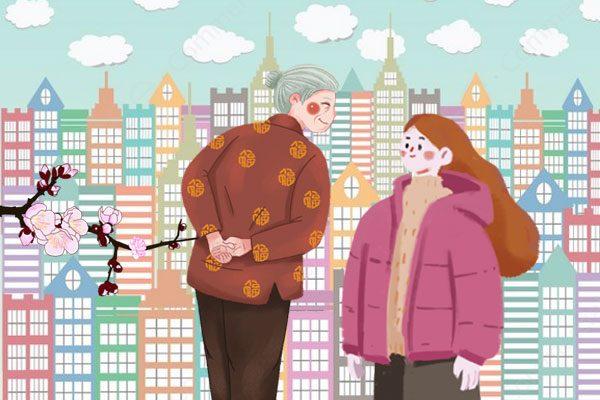 第一个说出她前世的人: 一个城市的老太太(图片:希望之声合成)