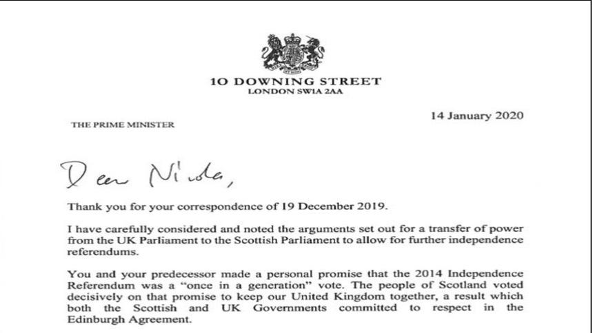 英政府正式回绝苏格兰二次独立公投请求