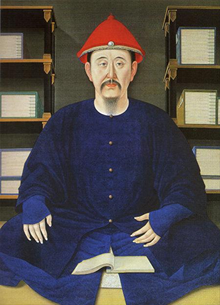 1699年康熙帝读书像(45岁)(图片:故宫博物院藏)