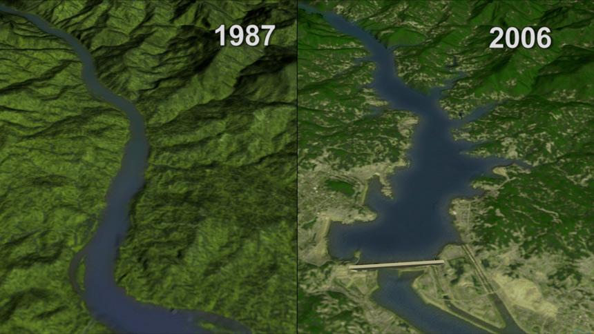 三峡生态(图片:NASA)