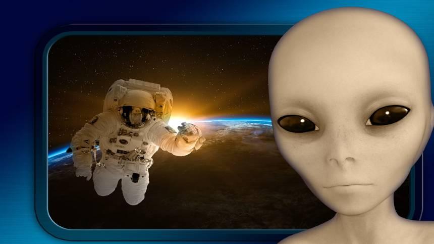宇航员太空遭遇外星人