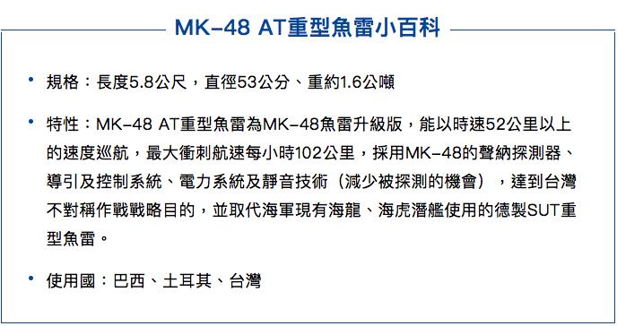 MK-48 AT重型魚雷小百科