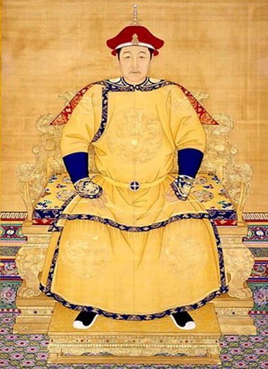 皇帝(圖片: 清代《清世祖順治皇帝朝服像》)