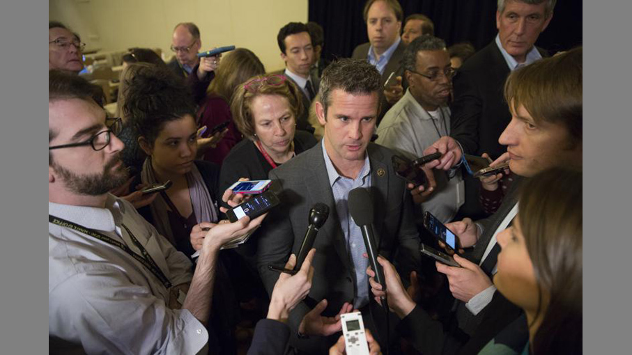 Rep Adam Kinzinger in 2017.(MATT ROURKE / AP)