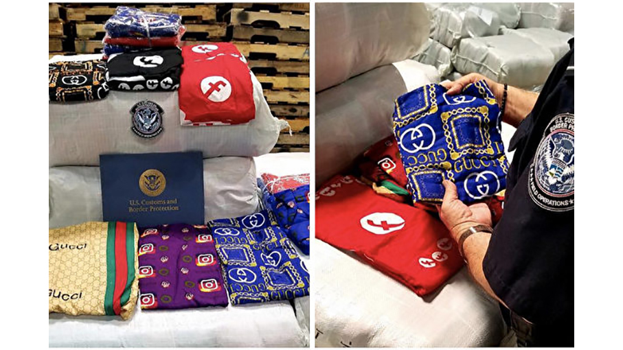 CBP-Officers-seize-16340-Counterfeit-Sleeping-Dresses-arriving-from-China--(CBP提供)