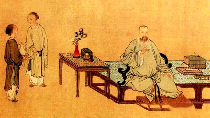 嵩真推算出自己的壽命是七十三歲(示意圖片:〔清〕 禹之鼎畫作局部 )